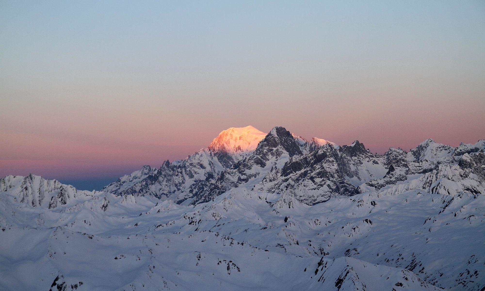 Mont Blanc im Sonnenaufgang